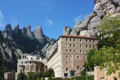 Abtei-Santa Mariade Montserrat, Katalonien, Spanien. Stockbild