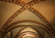 Abtei St. Galgano (Abbazia di San Galgano), Weinleseblick Toskana, Italien Lizenzfreie Stockfotos