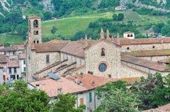 Abtei Str.-Colombano. Bobbio. Emilia-Romagna. Italien Lizenzfreies Stockbild