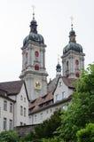 Abtei-Twin Tower Str.-Gallen Stockbilder