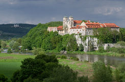 Abtei in Tyniec Stockbild