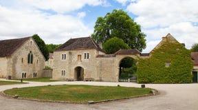 Abtei von Fontenay Stockbilder