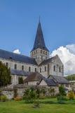 Abtei von Heilig-Georges, Boscherville, Frankreich Lizenzfreie Stockbilder