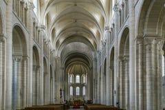 Abtei von Heilig-Georges, Boscherville, Frankreich Stockfotografie