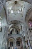 Abtei von Heilig-Georges, Boscherville, Frankreich Lizenzfreies Stockbild