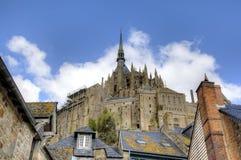 Abtei von Mont Saint Michel, Normandie, Frankreich Stockbilder