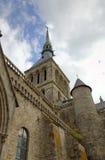 Abtei von Mont Saint Michel, Normandie, Frankreich Lizenzfreie Stockbilder
