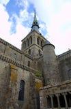Abtei von Mont Saint Michel, Normandie, Frankreich Lizenzfreies Stockfoto