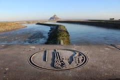 Abtei von Mont St. Michel mit großartiger Ansicht Lizenzfreie Stockfotos
