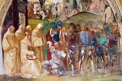 Abtei von Monte Oliveto Maggiore Stockfoto