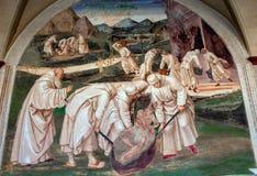 Abtei von Monte Oliveto Maggiore, Toskana, Italien Stockfoto