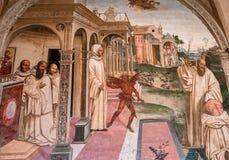 Abtei von Monte Oliveto Maggiore, Toskana, Italien Lizenzfreie Stockfotos
