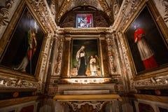 Abtei von Monte Oliveto Maggiore, Toskana, Italien Lizenzfreies Stockfoto