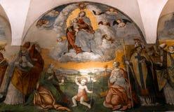 Abtei von Monte Oliveto Maggiore, Toskana, Italien Lizenzfreie Stockbilder