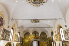 Abtei von Monte Oliveto Maggiore, Toskana, Italien Lizenzfreie Stockfotografie