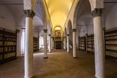 Abtei von Monte Oliveto Maggiore, Toskana, Italien Stockbilder