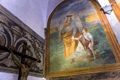 Abtei von Monte Oliveto Maggiore, Toskana, Italien Stockfotos