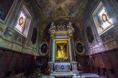 Abtei von Monte Oliveto Maggiore, Toskana, Italien Lizenzfreies Stockbild