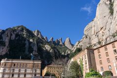 Abtei von Montserrat Stockfotos