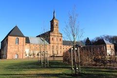 Abtei von Moyenmoutier, Vosges Stockfotografie