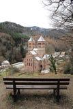 Abtei von Murbach, Elsass Stockbild
