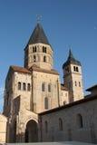 Abtei von restlichen Glockentürmen Cluny Stockbild