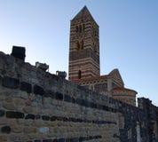 Abtei von Saccargia Lizenzfreies Stockfoto