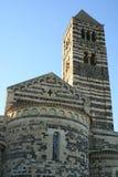 Abtei von Saccargia, Sardinien Lizenzfreies Stockbild