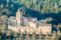 Abtei von San Cassiano, Narni, Italien Lizenzfreie Stockfotografie