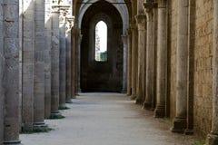 Abtei von San Galgano Stockbild