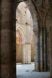 Abtei von San Galgano Stockbilder