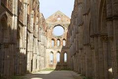 Abtei von San Galgano, Toskana, Italien Stockbild