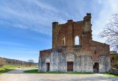 Abtei von San Galgano, Toskana, Italien Stockfotografie
