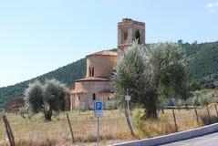 Abtei von Sant-` Antimo Stockbilder