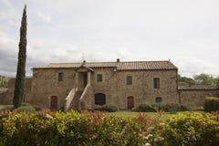 Abtei von Sant-` Antimo Castelnuovo Abate Montalcino Siena Toskana Italien Stockbilder
