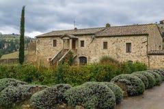 Abtei von Sant Antimo, Italien Stockbilder