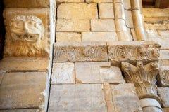 Abtei von Sant-` Antimo in Montalcino Außen-, bestimmte Verzierung Toskana, Italien Lizenzfreies Stockbild