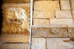 Abtei von Sant-` Antimo in Montalcino Außen-, bestimmte Verzierung Toskana, Italien Stockfotografie