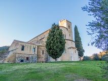 Abtei von Sant& x27; Antimo, Montalcino, Toskana Stockbild