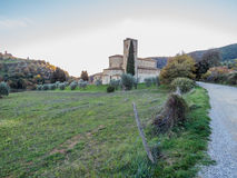 Abtei von Sant& x27; Antimo, Montalcino, Toskana Stockfoto