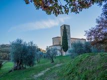 Abtei von Sant& x27; Antimo, Montalcino Lizenzfreie Stockfotos