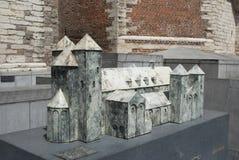 Abtei von Sint-Truiden: Architekturbaumuster Stockbilder