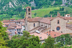 Abtei von St. Colombano. Bobbio. Emilia-Romagna. Italien. Stockfotos