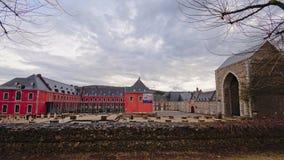 Abtei von Stavelot an einem bewölkten Tag Stockfotografie