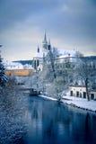 Abtei Vyssi Brod Tschechische Republik in dem Teichfrühling Stockbilder