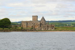 Abteigebäude und -landschaft Stockbild