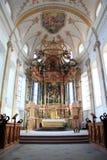 Abteikirche von Ebersmunster Stockfotos
