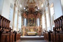 Abteikirche von Ebersmunster Lizenzfreie Stockfotos