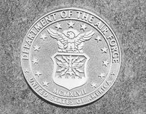 Abteilung der Luftwaffe USA-Steindichtung Lizenzfreie Stockbilder