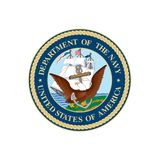 Abteilung der Marine-Robbe Logo Vector lizenzfreie abbildung